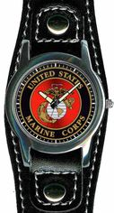 Marine Corps Watch with Leather Strap