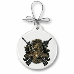 Marine devil dog First in last out Christmas Ornament