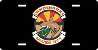 Marine Wing Support Squadron MWSS 371 Sandsharks License Plate