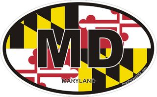 Maryland Oval Decal