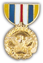 Military DOD Superior Service Medal Hat Pin