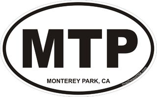 Monterey Park California Oval Decal