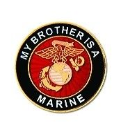 """My Brother is a Marine 1"""" Lapel Pin"""