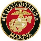 'MY DAUGHER IS A MARINE' LAPEL PIN