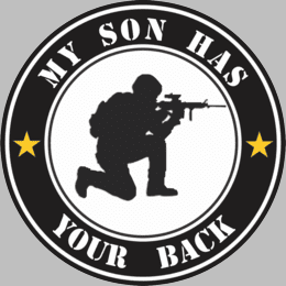 My Son Has Your Back Decal
