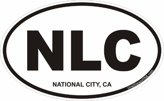 National City California Oval Decal