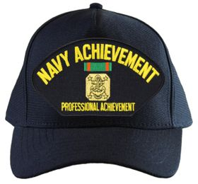 Navy Achievement with Medal Ball Cap