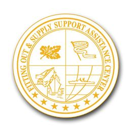 Navy Fitting Out and Supply Support Assistance Center Gold Seal Vinyl Transfer Decal