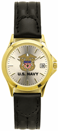 Navy Ladies Watch with Deluxe Leather Strap