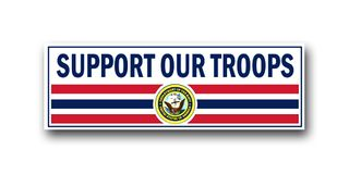 NAVY SUPPORT OUR TROOPS VINYL TRANSFER BUMPER STICKER