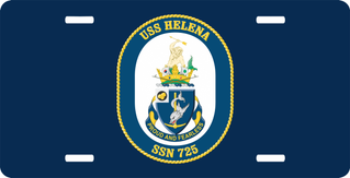 Navy USS Helena SSN-725 License Plate