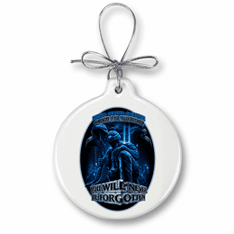 Never Forget Fallen Soldier Christmas Ornament