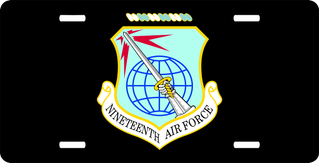 Nineteenth Air Force License Plate