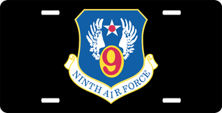 Ninth Air Force License Plate