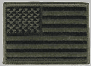 OD Green American Flag Hook and Loop Patch