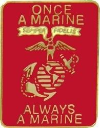 Once A Marine Lapel Pin