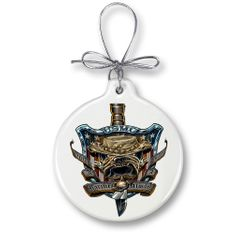 Once and always a Marine Christmas Ornament