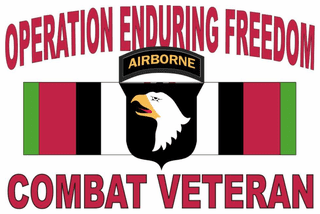 Operation Enduring Freedom 101st Airborne Sticker Decal