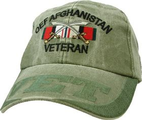 OPERATION ENDURING FREEDOM AFGHANISTAN OD GREEN CAP
