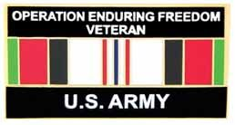 Operation Enduring Freedom Army Lapel Pin