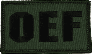 Operation Enduring Freedom OD Green Hook and Loop Patch