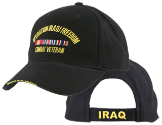 Operation Iraqi Freedom Combat Veteran Direct Embroidered Cap