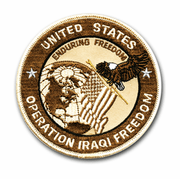 "Operation Iraqi Freedom' OIF 4"" Desert Tan Military Patch"