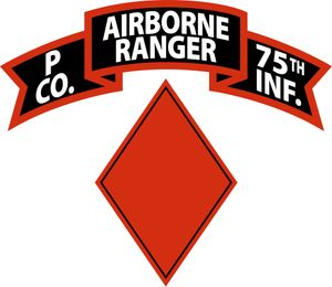 P Company (Airborne), 75th Infantry (RANGER), 1st Brigade, 5th Infantry Division Decal