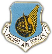 Pacific Air Command Shield Lapel Pin