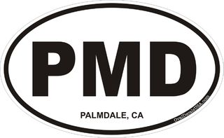 Palmdale California Oval Decal