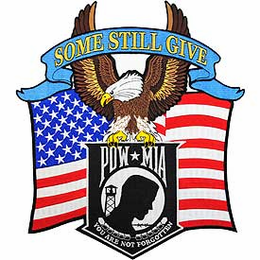 POW MIA You are Not Forgotten Jacket Patch