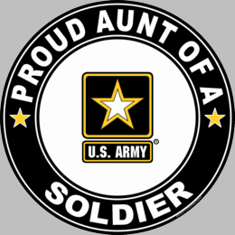 Proud Aunt of a Soldier U.S. Army Round Decal