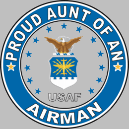 Proud Aunt of an Airman U.S. Air Force Round Decal