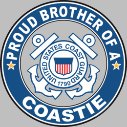 Proud Brother of a Coastie U.S. Coast Guard Round Decal