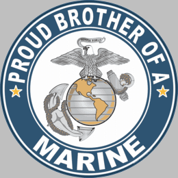 Proud Brother of a Marine U.S. Marine Corps Round Decal