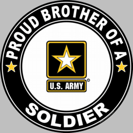 Proud Brother of a Soldier U.S. Army Round Decal