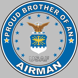 Proud Brother of an Airman U.S. Air Force Round Decal