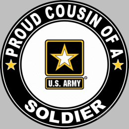 Proud Cousin of a Soldier U.S. Army Round Decal
