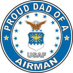 Proud Dad of an Airman U.S. Air Force Round Decal