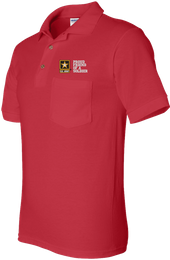 Proud Friend of a Soldier U.S. Army Pocket Polo