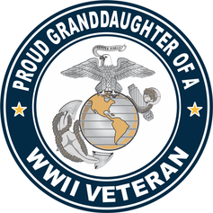 Proud Granddaughter of a U.S. Marine Corps World War II Veteran Decal