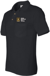 Proud Grandson of a Soldier U.S. Army Pocket Polo