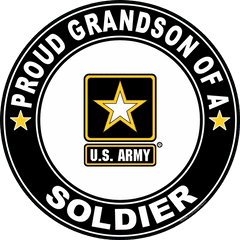 Proud Grandson of a Soldier U.S. Army Round Decal