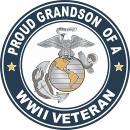 Proud Grandson of a U.S. Marine Corps World War II Veteran Decal