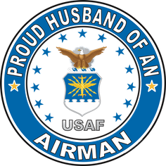 Proud Husband of an Airman U.S. Air Force Round Decal