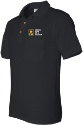 Proud Mom of a Soldier U.S. Army Pocket Polo