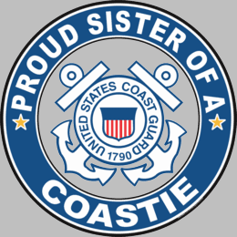 Proud Sister of a Coastie U.S. Coast Guard Round Decal