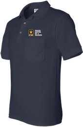 Proud Sister of a Soldier U.S. Army Pocket Polo