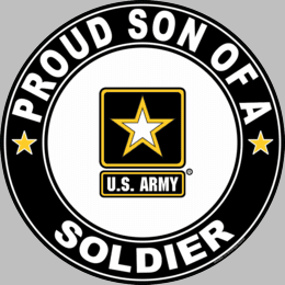 Proud Son of a Soldier U.S. Army Round Decal