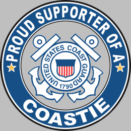 Proud Supporter of a Coastie U.S. Coast Guard Round Decal